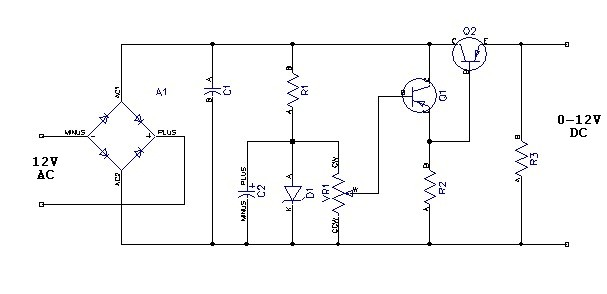 variable power supply 0 to 12 v