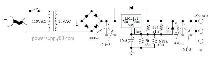 super clean 9vdc power supply circuit power supply circuits rh powersupply33 com