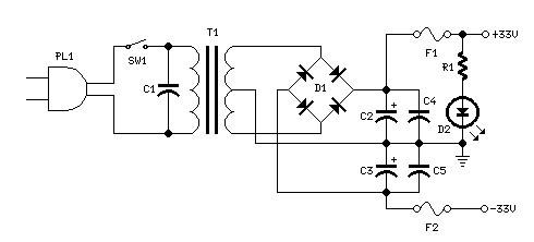 25 watt mosfet power amplifier power supply