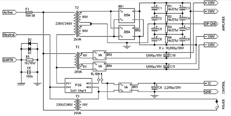 150 Watt Amplifier Circuit Electronic Circuits And Diagram