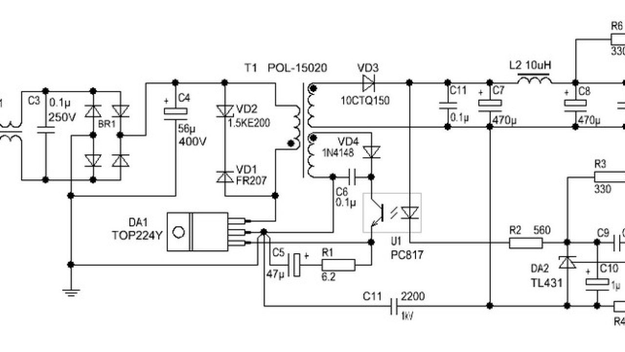 Smps Schematic Diagram   Wiring Library