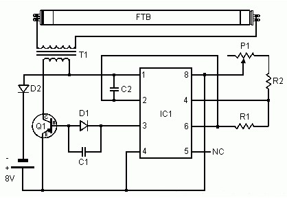 simple converter to power uv lamp power supply circuits rh powersupply33 com Light Fixture Diagram UV Light Disinfection