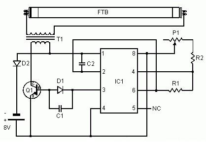 simple converter to power uv lamp power supply circuits rh powersupply33 com Splice in a Light Switch Diagram Light Socket Diagram