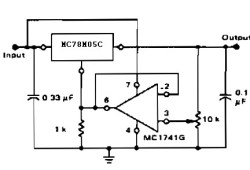 Adjustable Output Regulator with Op-Amp