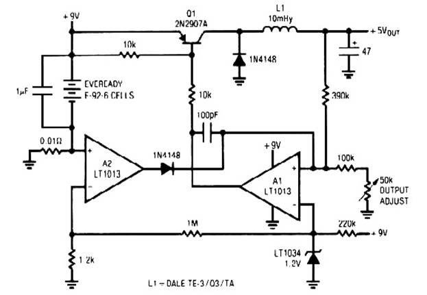 low power switching regulator