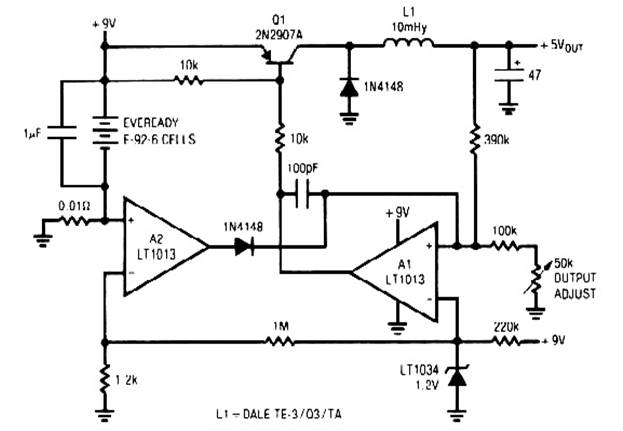low power 5v switching regulator