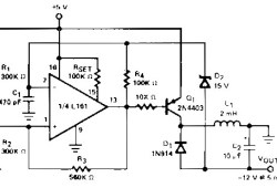 Regulated DC to DC Converter based L161