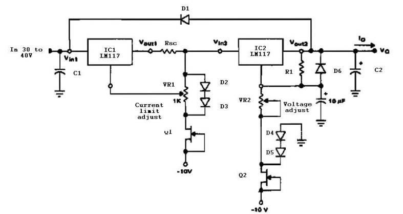 Variable Power Supply with Adjustable Current Limit - Power Supply