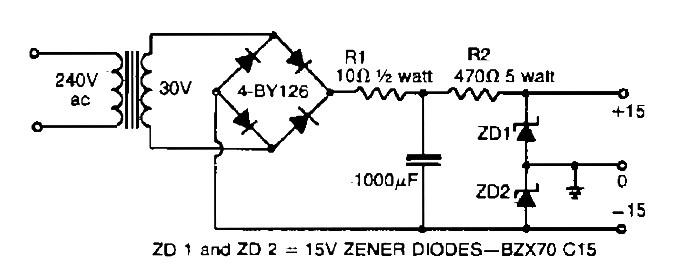 simple symmetrical power supply 25v 25v power supply circuitsdual polarity 15v power supply