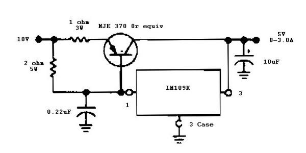 7805 voltage regulator circuit diagram