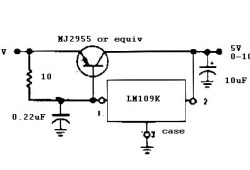 5V / 10A regulator circuit