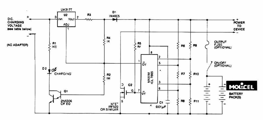 Ion Battery Chargedischarge Protection Circuit Powersupplycircuit