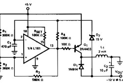 Low Power Regulated DC to DC Converter