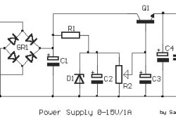 Adjustable Regulated Power Supply 0-15V / 1A