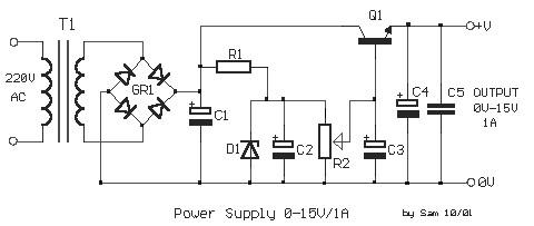 adjustable regulated power supply 0 15v 1a power supply circuits rh powersupply33 com