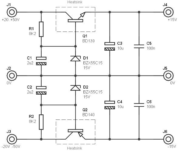 Dual Polarity DC Power Supply +/- 15V