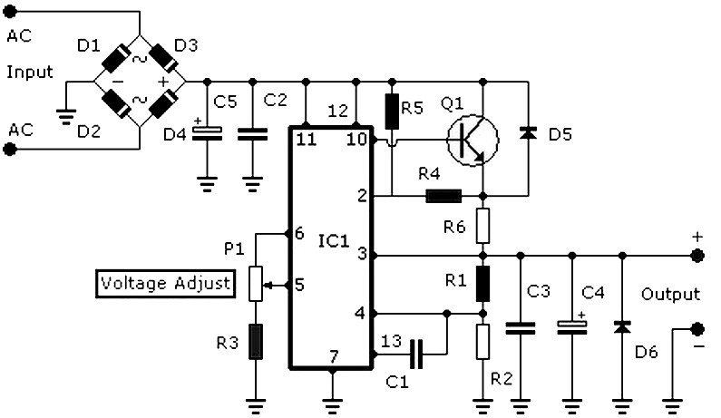 3-30v power supply 3 a circuit diagram