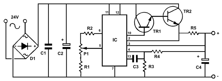 Using A Transistor To Control High Current Loads With An Arduino further 8 Gauge Wire also Digital Voltmeter Using Pic Microcontroller furthermore Controller Motor further Understanding Alternator. on dc voltage battery circuit diagram