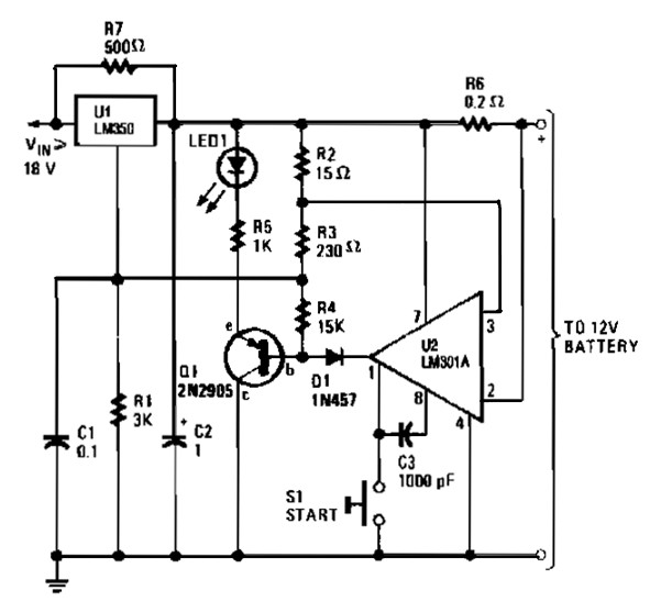 12 v car battery charger based 7812 power supply circuits