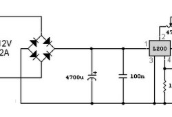 A simple variable power supply circuit with L200
