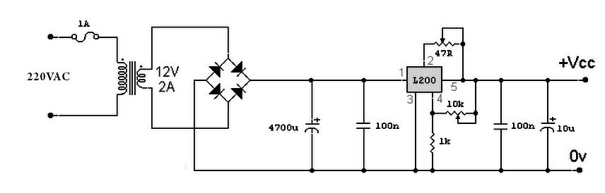 Variable Power Supply Circuit On Variable Resistor In Circuit