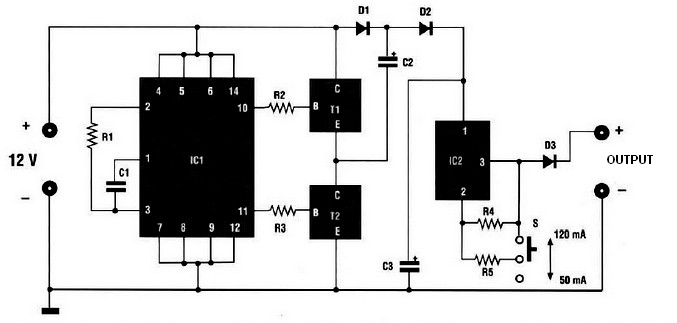 car nicd battery charger power supply circuits rh powersupply33 com Car Battery Charger Schematic EverStart Battery Charger Wiring Diagram