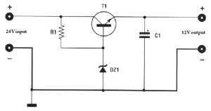 Voltage reducer 24v to 12v