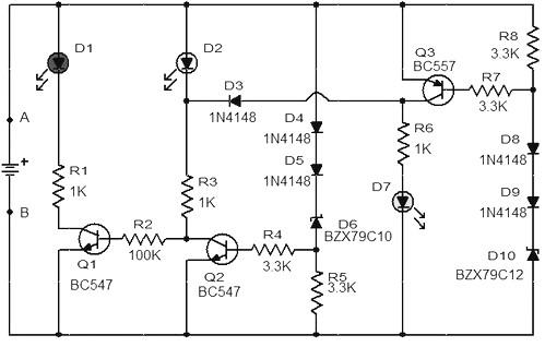 Surprising 3 Led Battery Monitor Circuit Basic Electronics Wiring Diagram Wiring Cloud Hisonuggs Outletorg