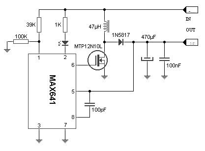 3 to 5V converter scheme