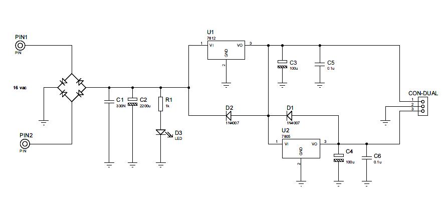 9v Power Supply Circuit Diagram