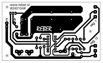 Variable DC power supply 1-27V 3A PCB design