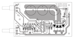 Variable DC power supply 1-27V 3A component placement