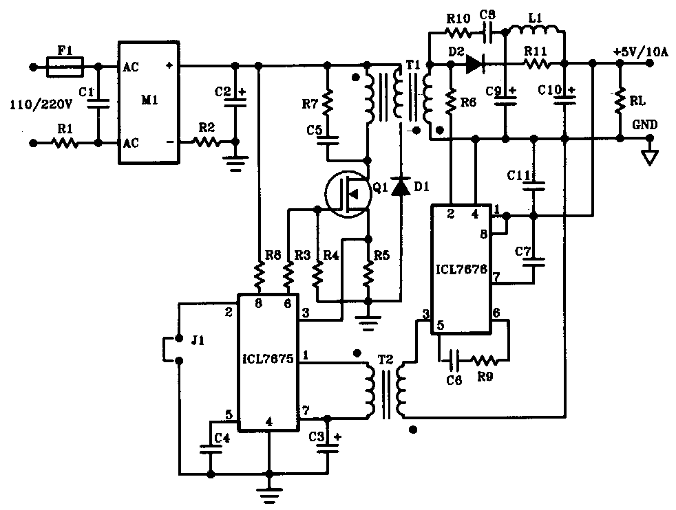 5v 10a 50w Offline Switching Power Supply on ups electrical diagram