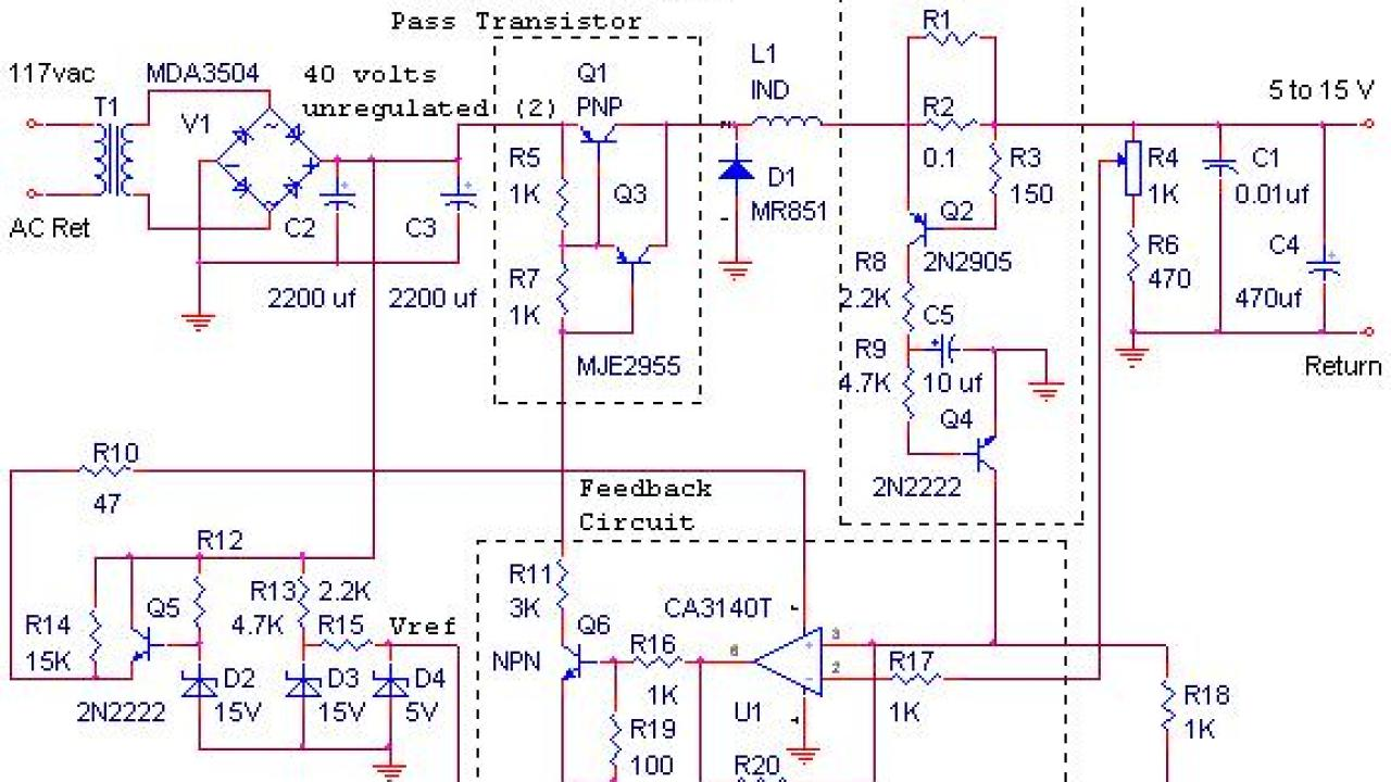 12V / 10A Switching Power Supply - Power Supply Circuits