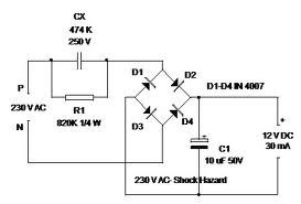 12v Dc Power Supply Without Transformer on light relay diagram