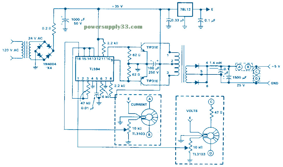 Isolated Feedback Smps 5v 1 5a on charger circuit schematic