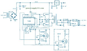 Isolated Feedback SMPS 5VDC 15A  Power Supply Circuits