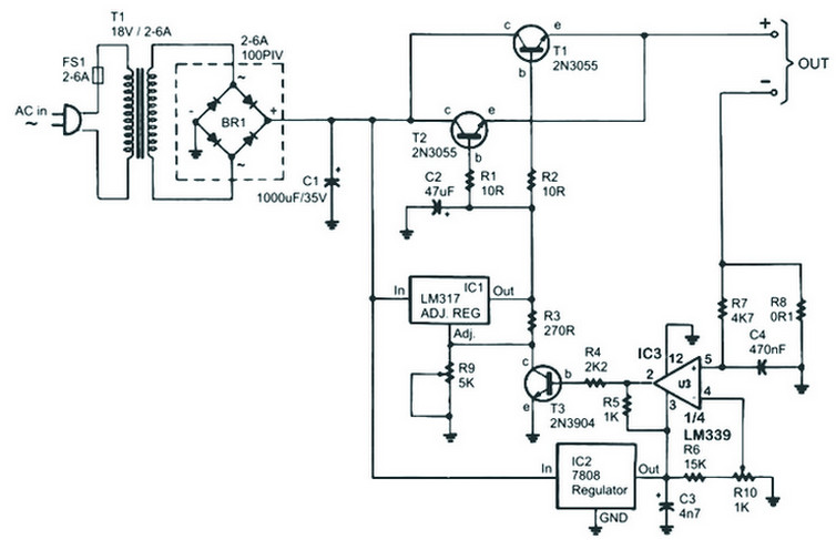 Smps Inverter Circuit Diagram | Dc To Dc Converter 12v To 38v Power Supply Circuits