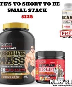 Maxs's Life's to short to be SMALL stack List flavours in Checkout Notes Absolute Mass + Red Alert