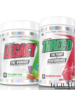 Muscle Nation Legacy + Three-D Stack List Flavours in Notes at Checkout Legacy + Three-D
