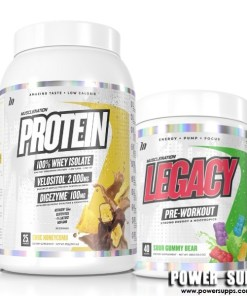 Muscle Nation Protein + Legacy Stack List Flavours in Notes at Checkout Protein + Legacy
