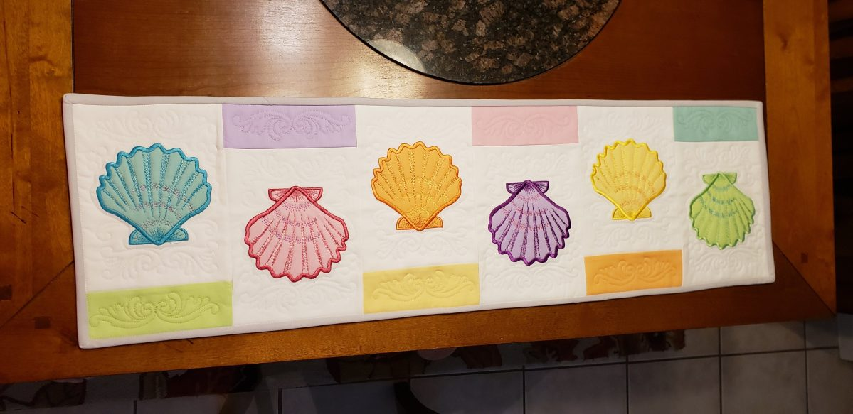Trapunto Seashell Table Runner