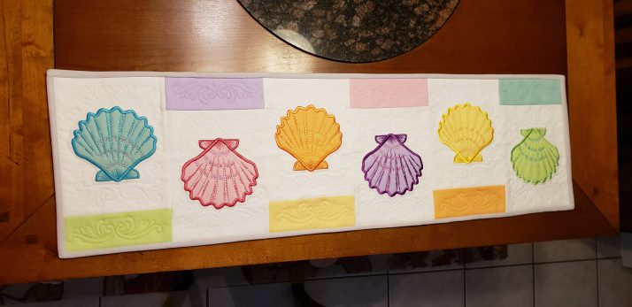 Trapunto Seashell Table Runner
