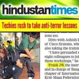 Hindustan Times Newspaper | Franklin Joseph - Techies Anti Terror Lessons
