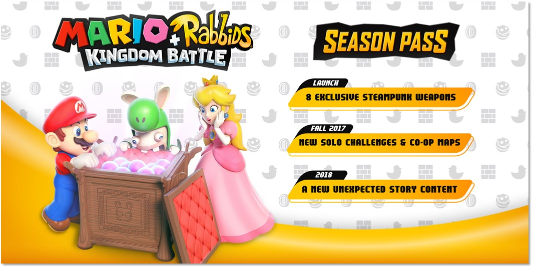 Ubisoft reveals season pass and DLC plans for Mario + Rabbids Kingdom Battle