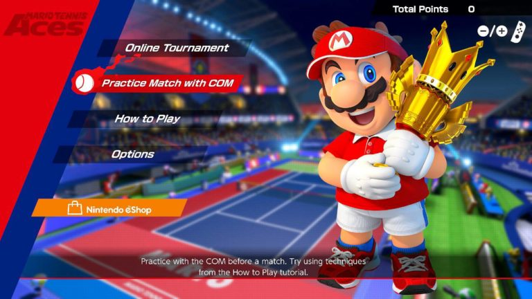 The Mario Tennis Aces Online Tournament Demo is now available to download