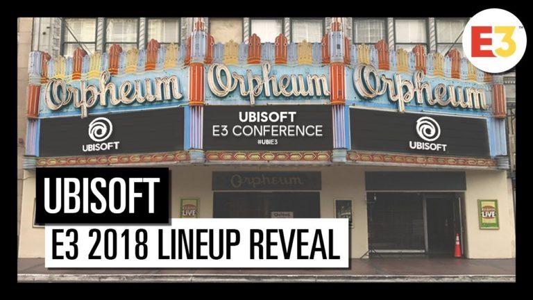 Ubisoft has announced its E3 2018 lineup