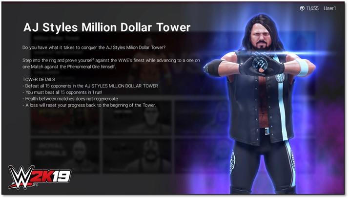 Play WWE 2K19 for the chance to win one million dollars