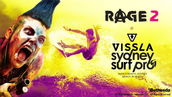 Play Rage 2 at the Vissla Sydney Surf Pro at Manly Beach