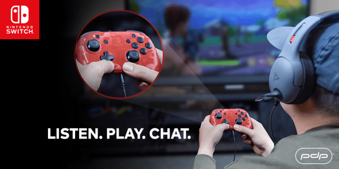 PDP Gaming announces a new Nintendo Switch chat controller with microphone jack